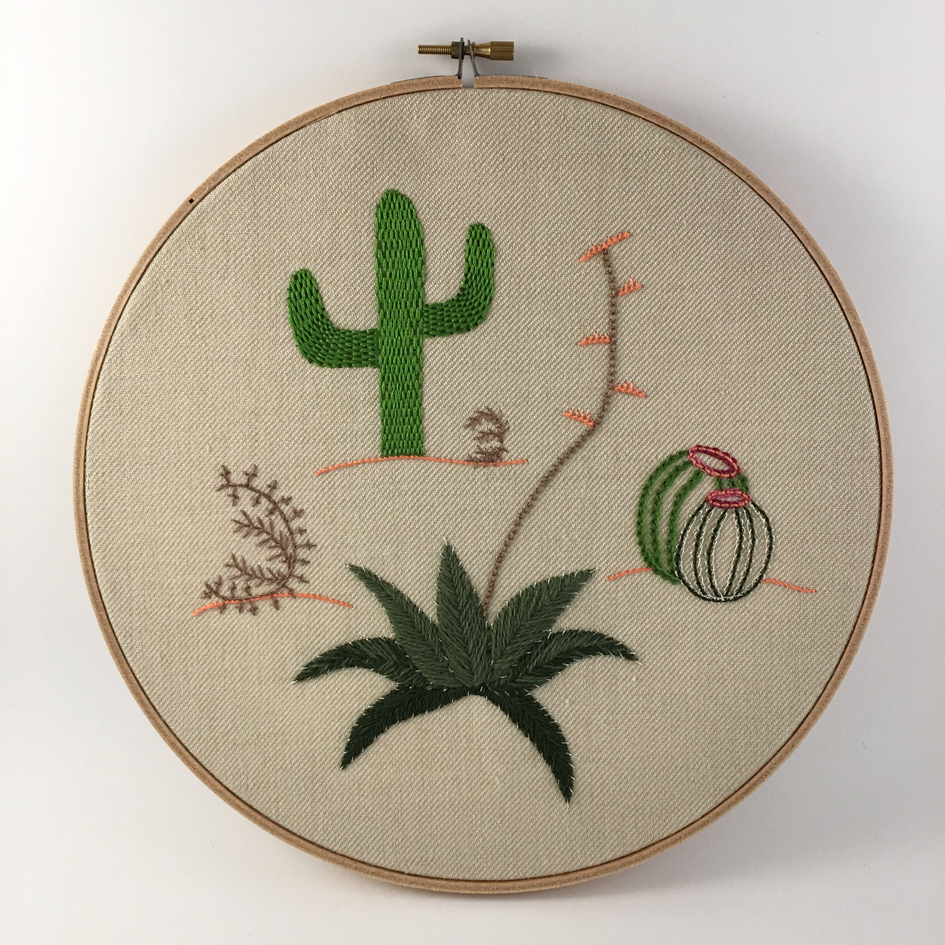 Introduction to Embroidery: Plant Contemporary VIRTUAL CLASS