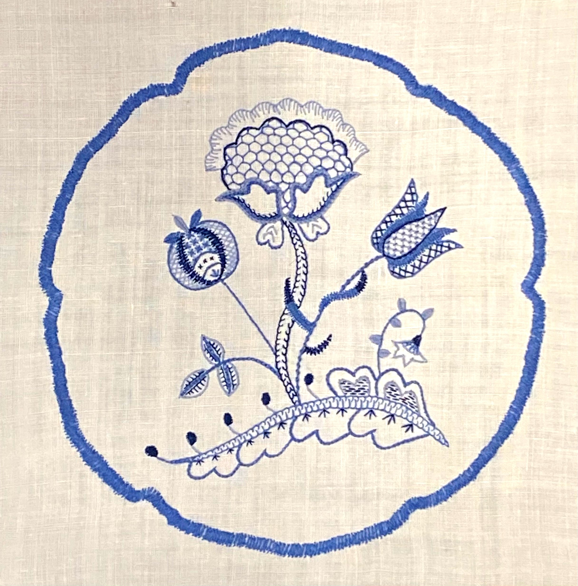 Deerfield Embroidery (Two-Session VIRTUAL CLASS)