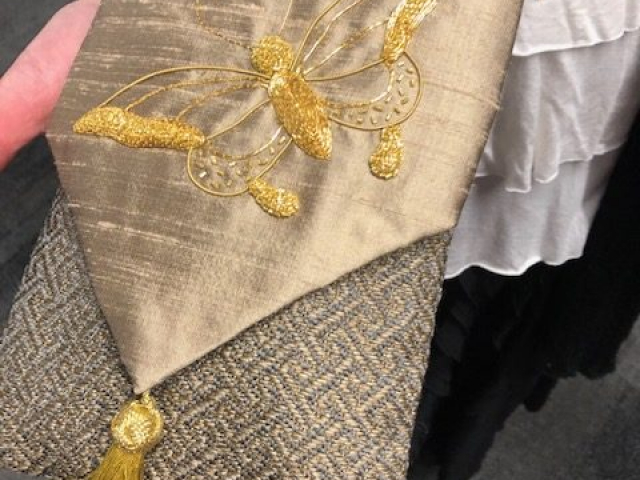 2018 - Spotted: SNAD goldwork class turned into a bag at our fundraising event
