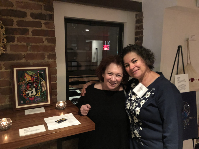 2019 - Talismans Stitch-at-Home Exhibition at NEST NYC (Ellice and Rosa Acuña)