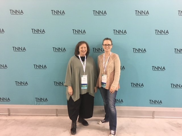 2017 - Lucy and Ellice at the TNNA Tradeshow