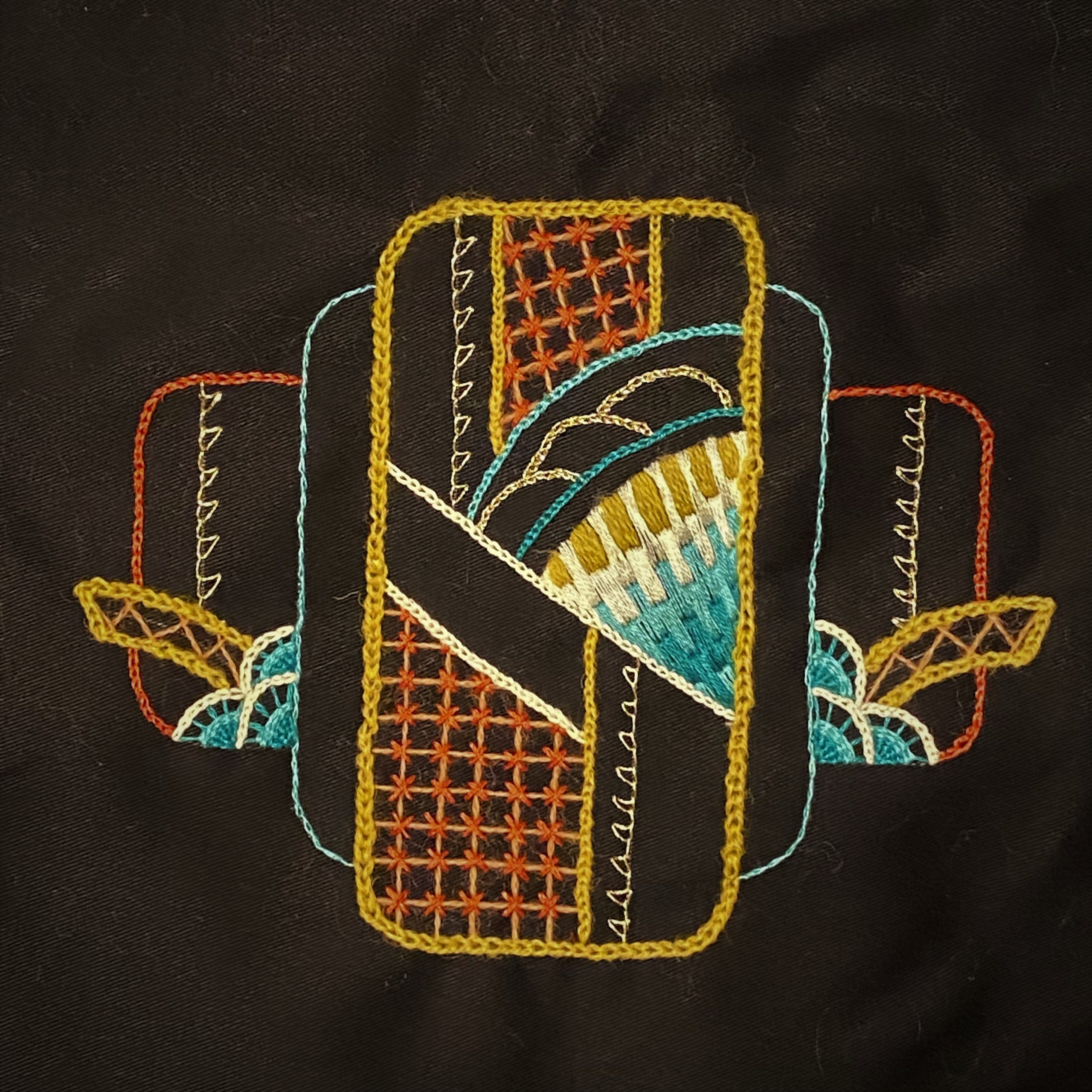Intro to Embroidery: Geometric, by Mary Corey March, CA, USA 1