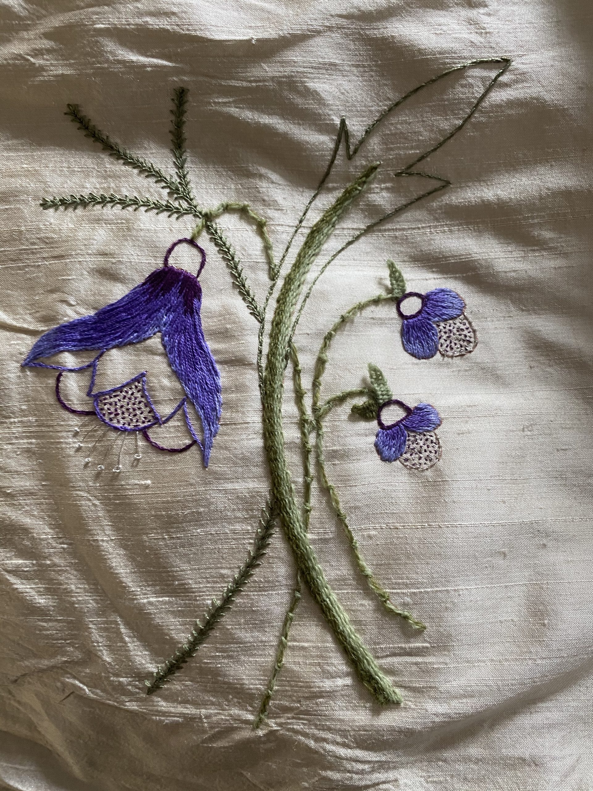 Intro to Embroidery: Flower, by Mary Corey March, CA